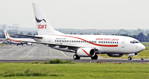 Avión de Star1 Airlines